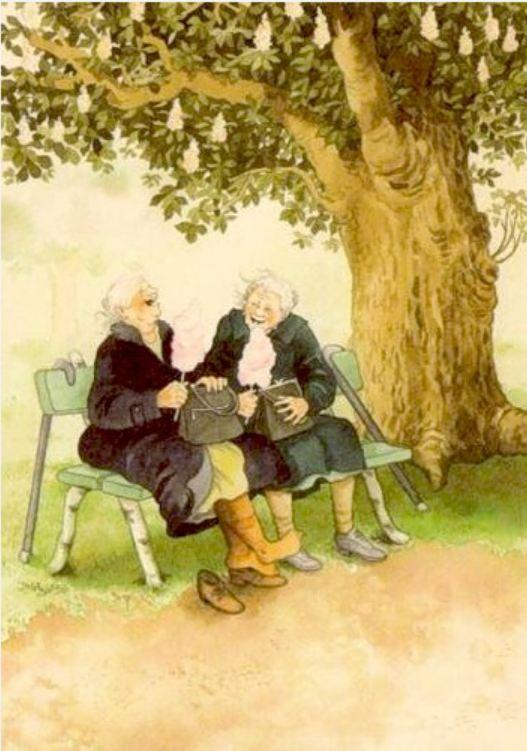 неунывающие старушки от Инге Лоок.