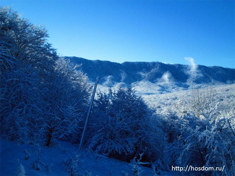снежная зима утро 7