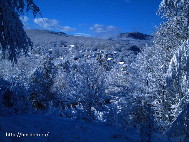 снежная зима утро 9