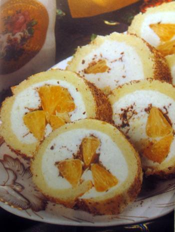 мандариновые десерты рулет