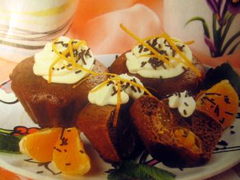 мандариновый десерт маффины