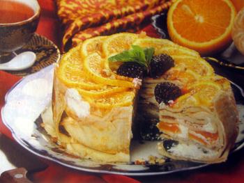блинчатый торт с апельсинами