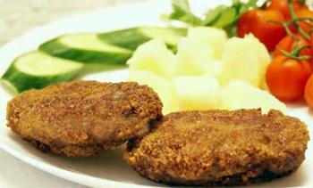 мясные зразы с картофельным пюре