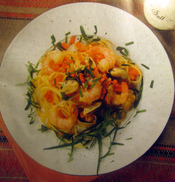 спагетти-с-креветками