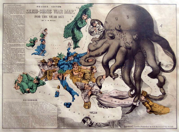 английский атлас Европы 1877