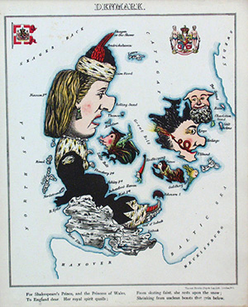 английский атлас Европы denmarkth1877 г.