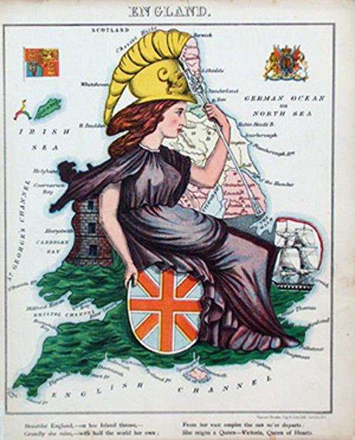 английский атлас Европыenglandth 1877 г