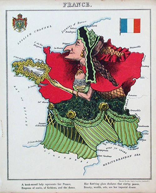 английский атлас Европы 1877 г franceth