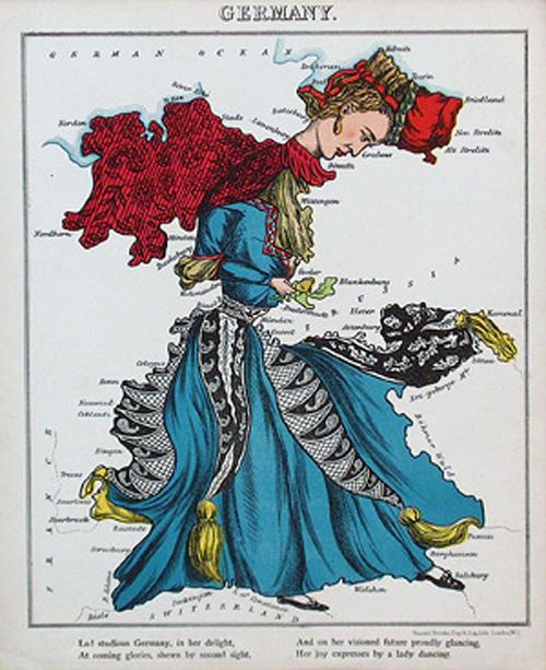 английский атлас Европы1877г германия