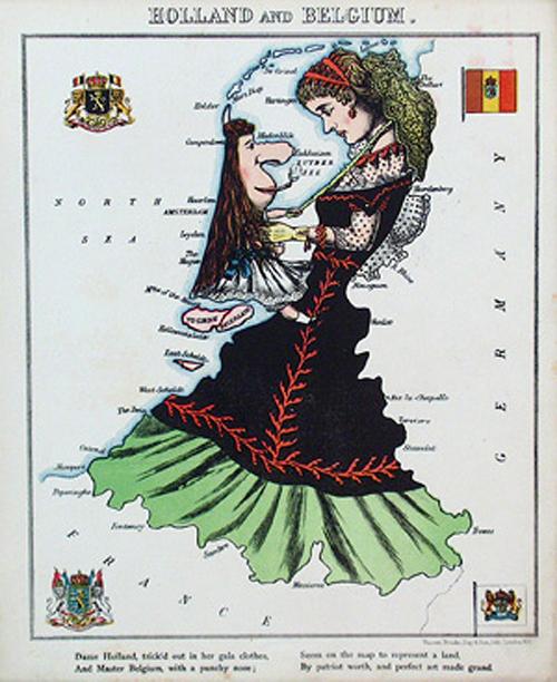 английский атлас Европы 1877 г. hollandandbelgiumth