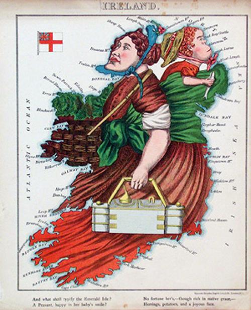 английский атлас Европы irelandth1877 г.