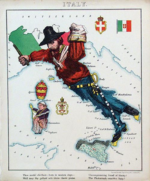 английский атлас Европы italyth 1877 г.