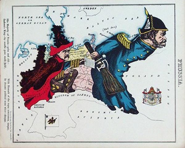 английский атлас Европы 1877 г. prussiath