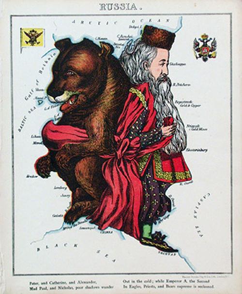 английский атлас Европы russiath1877