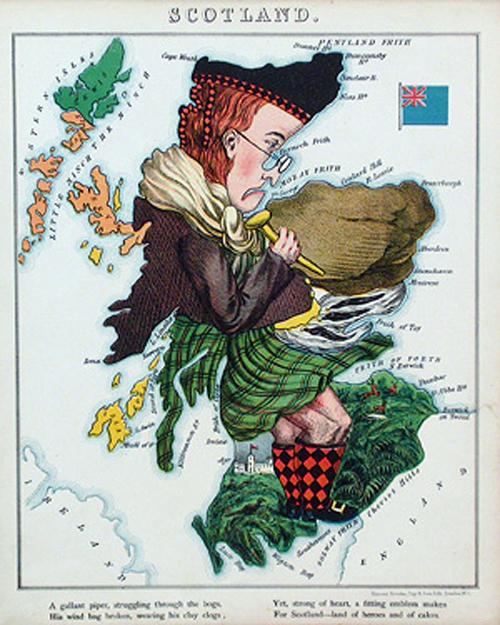 английский атлас Европы scotlandth 1877г.