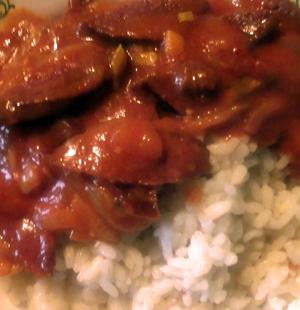 подливка из жареной колбасы