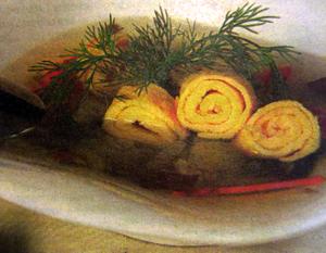 Рыбный суп с омлетом. Рецепт.