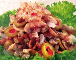 салат крестьянский с сушёными грибами
