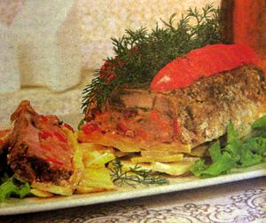 домашняя мясная запеканка.