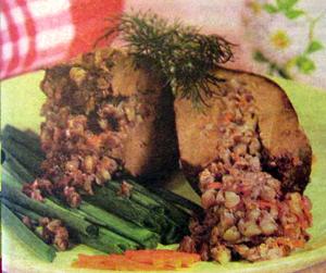 печень фаршированная гречкой