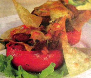 домашние чипсы с перцами и фасолью