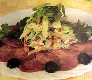 салат с языком и сельдереем