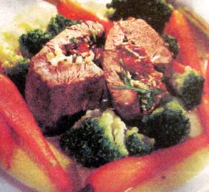мясо с грибами и морковкой