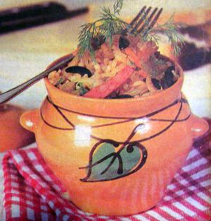 овощи тушёные в горшочках