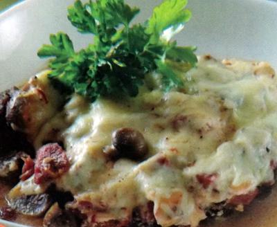 Закуска из мяса с грибами