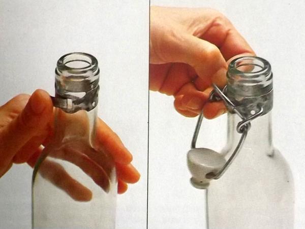 Пробка для бутылки с зажимом
