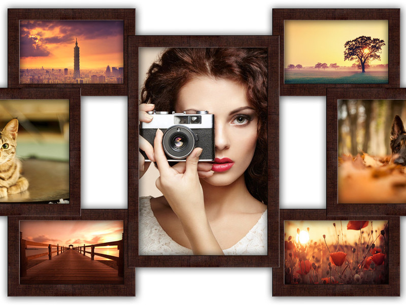Фоторамки на несколько фотографий